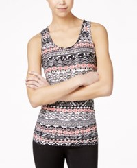 Planet Gold Junior's Striped Racerback Tank Top Tucson Coral