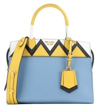 Prada Esplanade Zigzag Leather Tote Multicoloured