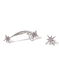 Pixie Market Lucky Stars Diamond Ear Cuff Set