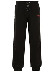 Adidas By Alexander Wang Logo Techno And Cotton Sweatpants Black