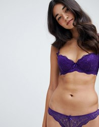 Boux Avenue Chloe Balconette Bra Purple