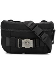 Versace Greca Ribbon Belt Bag Black