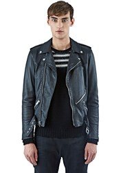 Ss16 Saint Laurent Laced Motorcycle Jacket Black