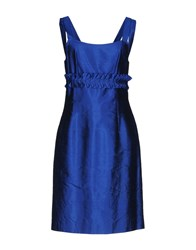 Fabrizio Lenzi Short Dresses Blue