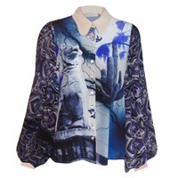 Klements Painters Smock In Dogs Of Alchibiades Print Blue