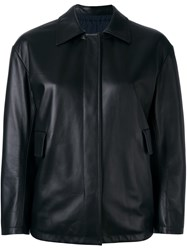 Jil Sander Reversible Leather Jacket Black