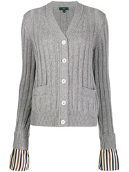 Jejia Striped Cuffs Cardigan 60