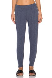 Velvet By Graham And Spencer Whitney Cozy Jersey Pant Blue
