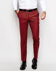 Noose And Monkey Suit Trousers In Skinny Fit Red