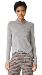 Lanston Turtleneck Top With Thumbholes Heather Grey