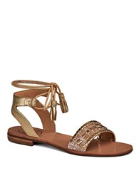 Jack Rogers Tateraffia Open Toe Sandals Gold