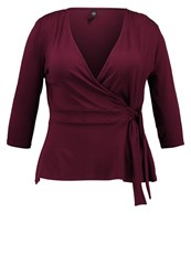 Evans Wrap Long Sleeved Top Red Dark Red