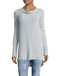 Free People Kate Thermal Long Sleeve Tee Blue