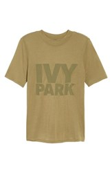 Ivy Park Programme Fitted Logo Tee Moss