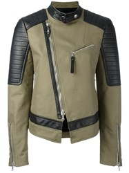 Diesel Black Gold Off Centre Zip Jacket Green