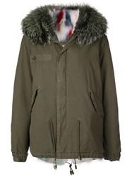 Mr And Mrs Italy Fur Trim Hooded Parka Coat Green