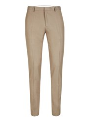 Topman Mid Grey Light Taupe Twill Skinny Fit Suit Trousers