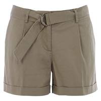 Oasis Casual D Ring Shorts Khaki