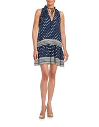 French Connection Floral Print Dress Blue