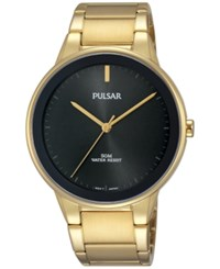 Pulsar Men's Solar Gold Tone Stainless Steel Bracelet Watch 40Mm Pg2046