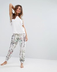 Ted Baker Crystal Droplets Print Pant Droplet Pink