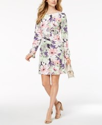 Nine West Bell Sleeve Shift Dress Sprout Pin