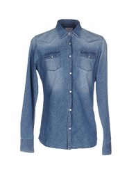 0 Zero Construction Denim Shirts Blue