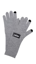 Kenzo Texting Gloves Pale Grey