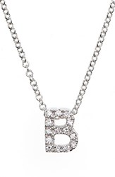 Bony Levy Women's Pave Diamond Initial Pendant Necklace Nordstrom Exclusive White Gold B