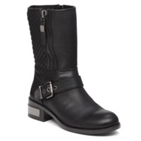 Vince Camuto Whynn Quilted Moto Booties Women's Shoes Black