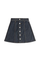 Alexa Chung For Ag Kety Denim Skirt Blue