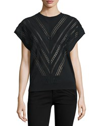 Adam By Adam Lippes Lace Inset Muscle Tee Black