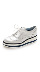 Studio Pollini Platform Oxfords Silver