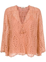 Spacenk Nk Long Sleeved Blouse Pink