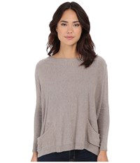 Culture Phit Livvi Two Pocket Sweater Taupe Women's Sweater