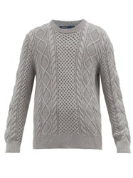 Polo Ralph Lauren Cable Knit Cotton Sweater Grey