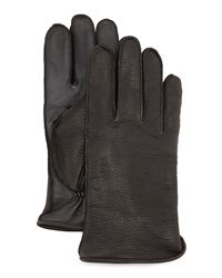 Ugg Whip Tech Leather Gloves Black