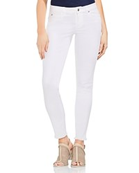 Vince Camuto Frayed Skinny Jeans In Ultra White