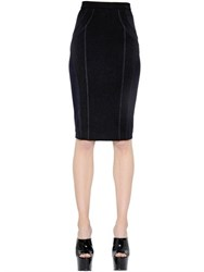 Versace Mesh And Stretch Jersey Pencil Skirt