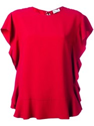 Red Valentino Ruffle Blouse Red