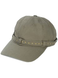 Mostly Heard Rarely Seen Lettering Strap Baseball Cap Green