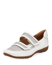 Sesto Meucci Gyan Patent Leather Mesh Mary Jane Sneakers White