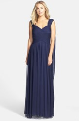 Women's Alex Evenings Convertible Chiffon Maxi Dress