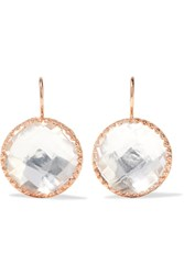 Larkspur And Hawk Olivia Button Rose Gold Dipped Topaz Earrings One Size