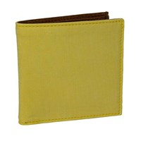 40 Colori Pale Yellow Solid Washed Mogador And Leather Wallet Yellow Orange