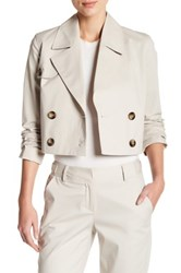 Laundry By Shelli Segal Crop Trench Jacket Beige