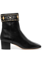 Sandro Azelie Studded Leather Boots Black
