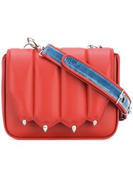 Marco De Vincenzo Paw Flap Crossbody Bag Women Calf Leather One Size Red