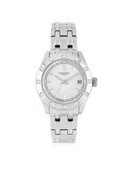 Forzieri Roma Stainless Steel And Crystals Women's Watch Silver