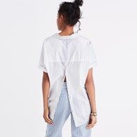 Madewell Courier Button Back Shirt In Eyelet White